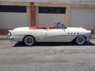 Buick blanche roadmaster cabriolet 1955 location mariage cady cruise paris