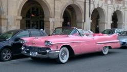 Cadillac rose 1958 location mariage cady cruise paris