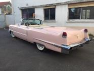 Cadillac rose pale 2 portes de 1956 location mariage cady cruise paris