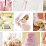 Inspiration mariage tableau rose et blanc 1