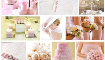 Inspiration mariage tableau rose et blanc