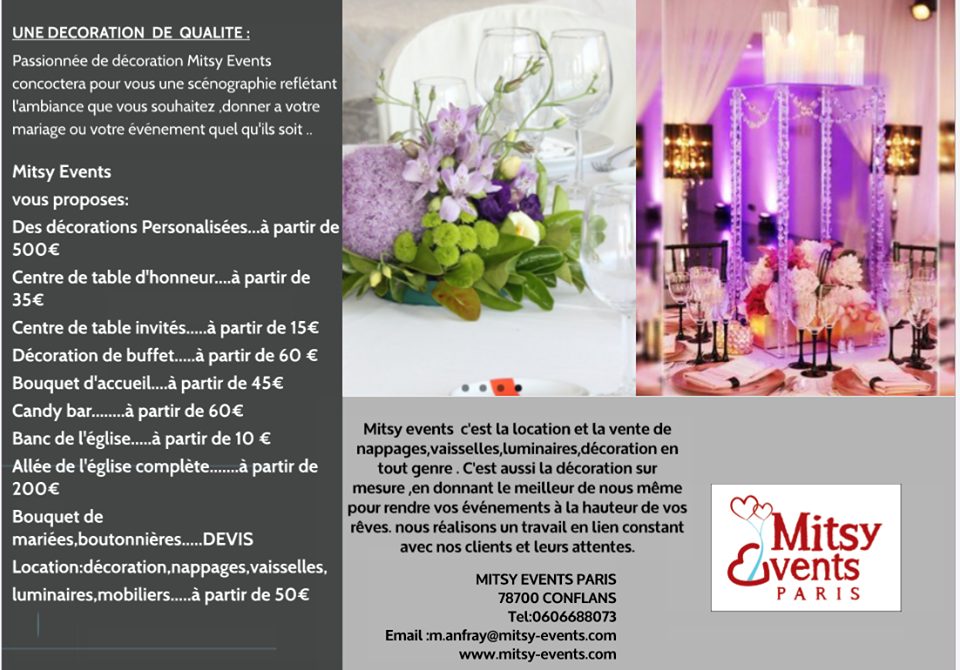 Décoration Mitsy Events Paris